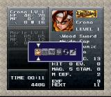 Chrono Trigger SNES Menu