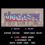 Vigilante Arcade Title screen
