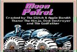 Moon Patrol Apple II Title screen (this version has been cracked!)