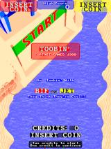 Toobin' Arcade Title screen