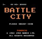 Battle City Arcade Title screen (Vs. Battle City)