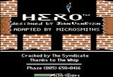 H.E.R.O. Apple II Title screen (this version is cracked)