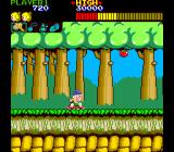 Wonder Boy Arcade On the skateboard.