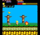 Wonder Boy Arcade Jump the flames.