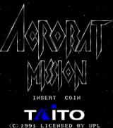 Acrobat Mission Arcade Title Screen.
