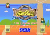 Alex Kidd: The Lost Stars Arcade Title Screen.