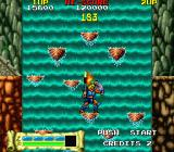 Astyanax Arcade Jumping across the waterfall.
