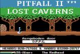 Pitfall II: Lost Caverns Apple II Title screen (this version has been cracked)