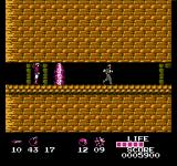 Arumana no Kiseki NES A narrow passage that is filled with traps.