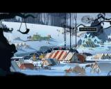The Banner Saga Windows Camp - While travelling, the player may opt to camp the caravan. Allowing further access to manage heroes.
