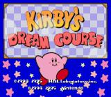 Kirby's Dream Course SNES Title Screen