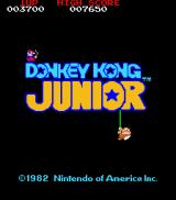 Donkey Kong Junior Arcade Title screen (North America)