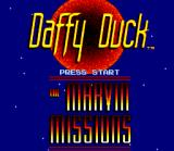 Daffy Duck: The Marvin Missions SNES Title Screen