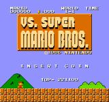VS. Super Mario Bros. Arcade Title screen