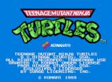 Teenage Mutant Ninja Turtles Arcade Title screen