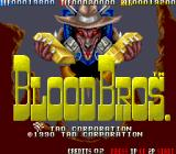 Blood Bros. Arcade Title Screen.