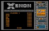 Xenon Arcade Highscore table