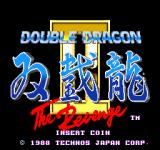 Double Dragon II: The Revenge Arcade Title Screen.
