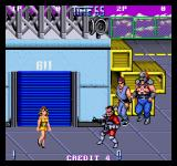 Double Dragon II: The Revenge Arcade Girlfirend is shot dead.