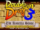 Double Dragon III: The Sacred Stones Arcade Title Screen.