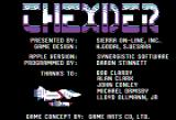 Thexder Apple II Credits screen