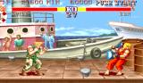 Street Fighter II Arcade Attack from distance (Sonic Boom)