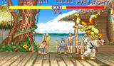 Street Fighter II Arcade Ryu throws Blanca