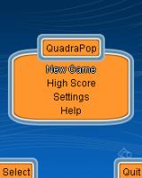 QuadraPop J2ME Main menu