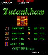 Tutankham Arcade Title screen