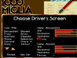 1000 Miglia Amiga Game Interface