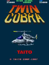 Twin Cobra Arcade Title Screen.