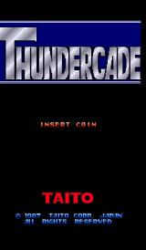 Thundercade Arcade Title Screen.