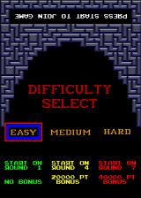 Tetris Arcade Difficulty Select.