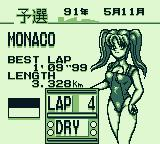 F1 Pole Position Game Boy Qualifying. Cute race queen.