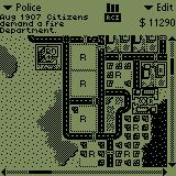 SimCity Palm OS Building a police station to stop the crime