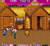 Double Dragon II: The Revenge Arcade Catch enemy and kick him in head