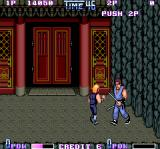 Double Dragon II: The Revenge Arcade Guard with sticks