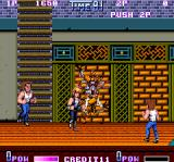 Double Dragon II: The Revenge Arcade Somebody crushes wall