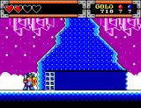 Wonder Boy in Monster World SEGA Master System It's snowing in Crystal Land