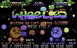 Wheelies Commodore 64 Title Screen.