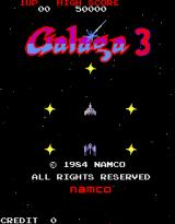 Galaga 3 Arcade Title screen - Galaga 3