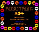 Robotron: 2084 Arcade Title Screen.