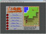 Exile III: Ruined World Windows 3.x Main menu screen (unregistered shareware).
