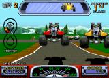 Road Riot 4WD Arcade Jumping past the other driver.