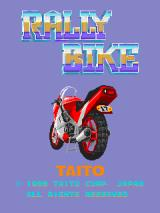 Rally Bike Arcade Title Screen.