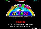 Rainbow Islands Arcade Title Screen.