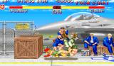 Super Street Fighter II Arcade Cammy uses strong legs to throw Guile