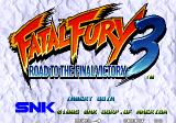 Fatal Fury 3: Road to the Final Victory Arcade Title screen