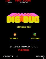 Dig Dug Arcade Title screen