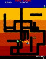 Dig Dug Arcade Burnt by the dragon